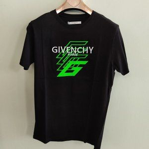 Givenchy Logo Print Black Short Sleeve T-Shirt